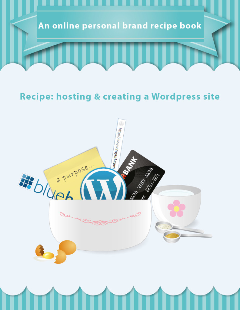 an online personal brand recipe book hosting and creating a