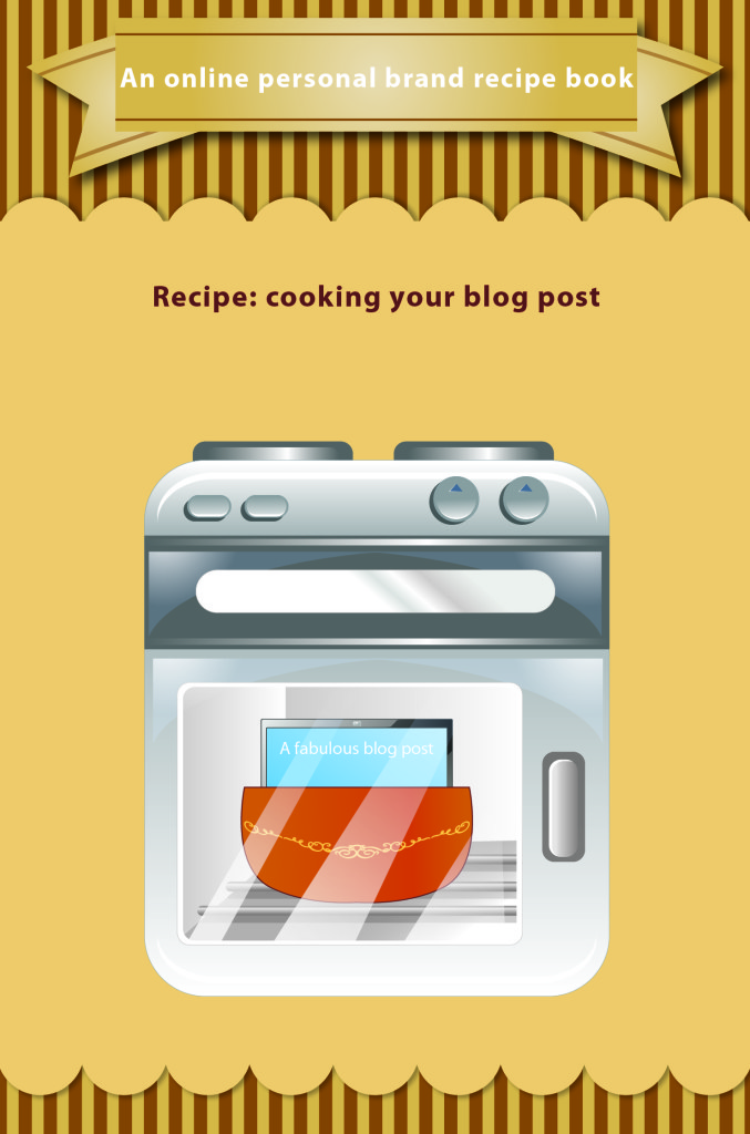 recipe for baking a blog post