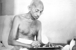 Gandhi Writing